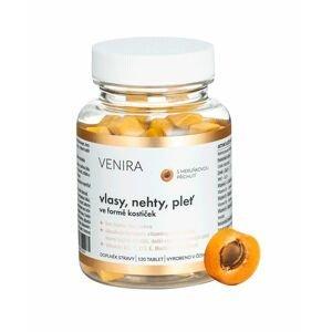 Venira Vlasy, nehty, pleť ve formě kostiček meruňka 120 tablet