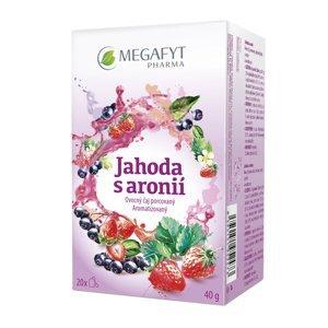 Megafyt Jahoda s aronií porcovaný čaj 20x2 g