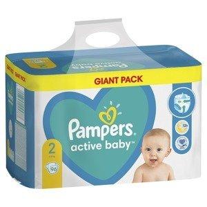 Pampers Active Baby vel. 2 Giant Pack 4-8 kg dětské pleny 96 ks