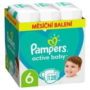 Pampers Active Baby vel. 6 Monthly Pack 13-18 kg dětské pleny 128 ks