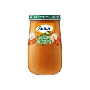 Sunar BIO Příkrm Zelenina, kuřecí maso a rýže 6m+ 190 g