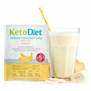 KetoDiet Proteinový nápoj banán 7x27 g
