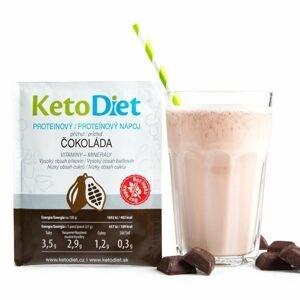 KetoDiet Proteinový nápoj čokoláda 7x27 g