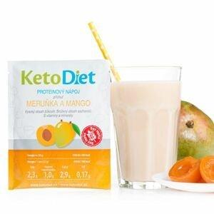 KetoDiet Proteinový nápoj meruňka a mango 7x27 g
