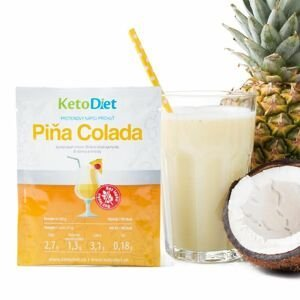 KetoDiet Proteinový nápoj Piňa Colada 7x27 g