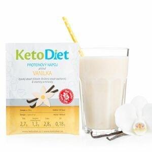 KetoDiet Proteinový nápoj vanilka 7x27 g