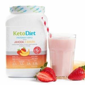 KetoDiet Proteinový nápoj jahoda a banán 1000 g