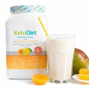 KetoDiet Proteinový nápoj meruňka a mango 1000 g