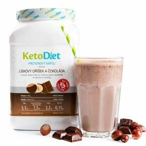 KetoDiet Proteinový nápoj lískový oříšek a čokoláda 1000 g