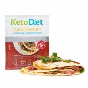KetoDiet Proteinová omeleta se slaninovou příchutí 7x27 g