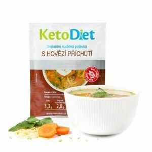 KetoDiet Proteinová polévka hovězí s nudlemi 7x33 g