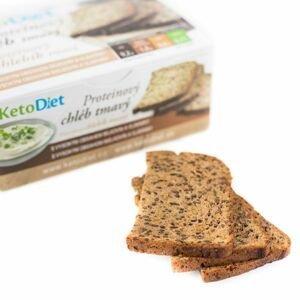 KetoDiet Proteinový chléb tmavý 7x70 g