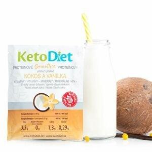 KetoDiet Proteinové smoothie příchuť kokos a vanilka 7x27 g