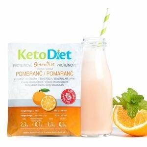KetoDiet Proteinové smoothie s pomerančovou příchutí 7x27 g
