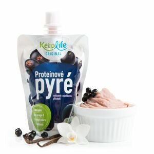 KetoLife Proteinové pyré rybízové s vanilkovou příchutí 100 g