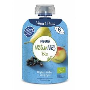 Nestlé Naturnes BIO Černý rybíz hruška jablko kapsička 90 g