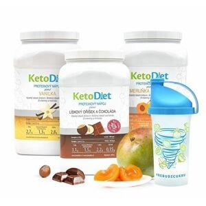 KetoDiet 3týdenní balení proteinových nápojů MEDIUM 1. krok