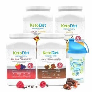 KetoDiet 4týdenní balení proteinových nápojů INTENSE 1. krok