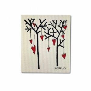 More Joy Pratelná univerzální utěrka Stromy a srdce 1 ks