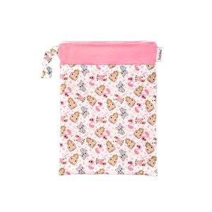 Bobánek Nepromokavá taška 1 ks růžová zvířátka