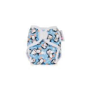 Bobánek Novorozenecké svrchní kalhotky suchý zip 1 ks tučňáci