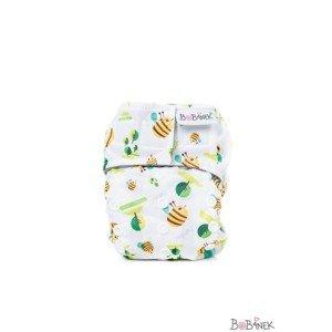 Bobánek Novorozenecká AIO plena suchý zip 1 ks včelky