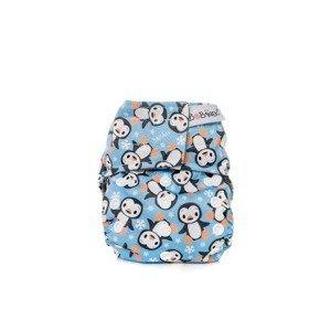 Bobánek Novorozenecká AIO plena suchý zip 1 ks tučňáci