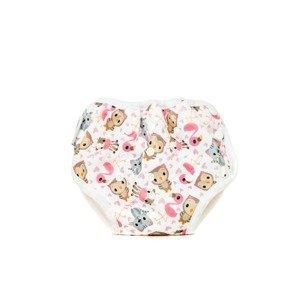 Bobánek Tréninkové kalhotky 1 ks růžová zvířátka