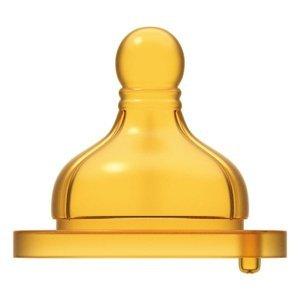 Chicco Original Touch Dudlík na láhev latexový pomalý průtok 2 ks
