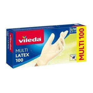 Vileda MultiLatex vel. S/M rukavice 100 ks