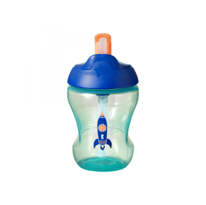 Tommee Tippee Straw Cup 7m+ netekoucí hrnek s brčkem 230 ml Blue