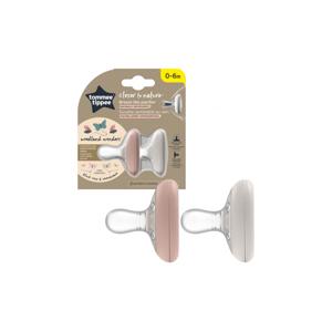 Tommee Tippee C2N Natural 0–6m silikonové šidítko 2 ks Blush Rose