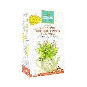 Dilmah Rooibos Cinnamon Turmeric Ginger & Nutmeg porcovaný čaj 20x2 g