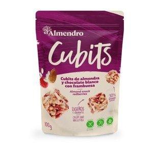 ALMENDRO CUBITS Mandle s bílou čokoládou a malinami 25 g