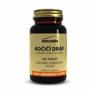 Herbamedica Kočičí dráp Vilcacora 330 mg 100 tablet