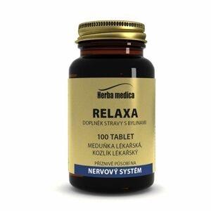 Herbamedica Relaxa meduňka + kozlík lékařský 100 tablet