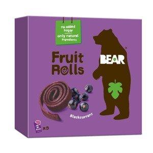 BEAR Fruit Rolls černý rybíz ovocné rolované plátky 5x20 g
