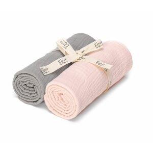 ESECO Mušelínové pleny 2 ks grey - pink
