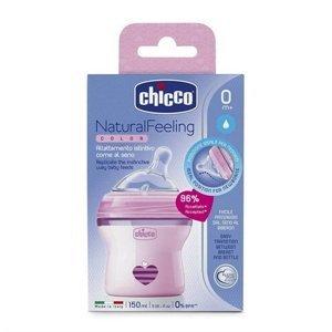 Chicco Natural Feeling Kojenecká láhev 150 ml dívka
