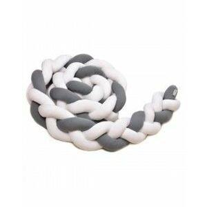 T-tomi Pletený mantinel 360 cm 1 ks white/grey