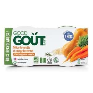 Good Gout BIO Pyré z máslové dýně a mrkve 6m+ 2x190 g