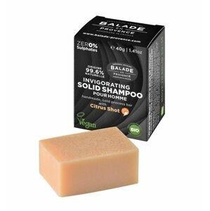Balade en Provence Posilující tuhý šampon pro muže BIO Citrus 40 g
