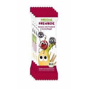 Freche Freunde BIO Ovocná tyčinka Banán, hroznové víno a černý jeřáb 4x23 g