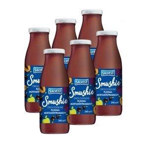 SALVEST Smushie BIO Ovocné smoothie s černým rybízem a švestkami 6x240 ml