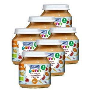 SALVEST Põnn BIO Ovocné pyré s jogurtem 6x130 g