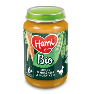 Hami BIO Mrkev s hráškem a kuřátkem 6m+ 190 g