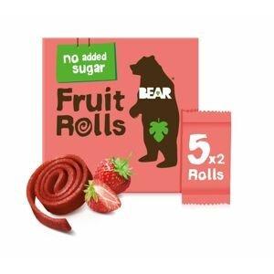BEAR Fruit Rolls jahoda ovocné rolované plátky 5x20 g