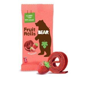 BEAR Fruit Rolls jahoda ovocné rolované plátky 20 g
