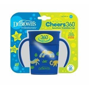 Dr.Browns Hrnek Cheers360 Jungle s držadly 6m+ 200 ml 1 ks modrý