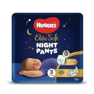 Huggies Elite Soft Pants night 3 6–11 kg 23 ks